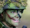 Crown Princess Victoria of Sweden in camouflagepaint a